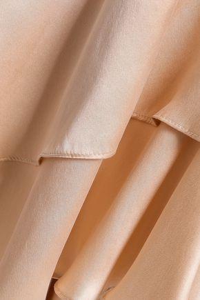 ZIMMERMANN Tiered ruffled silk-satin mini wrap dress