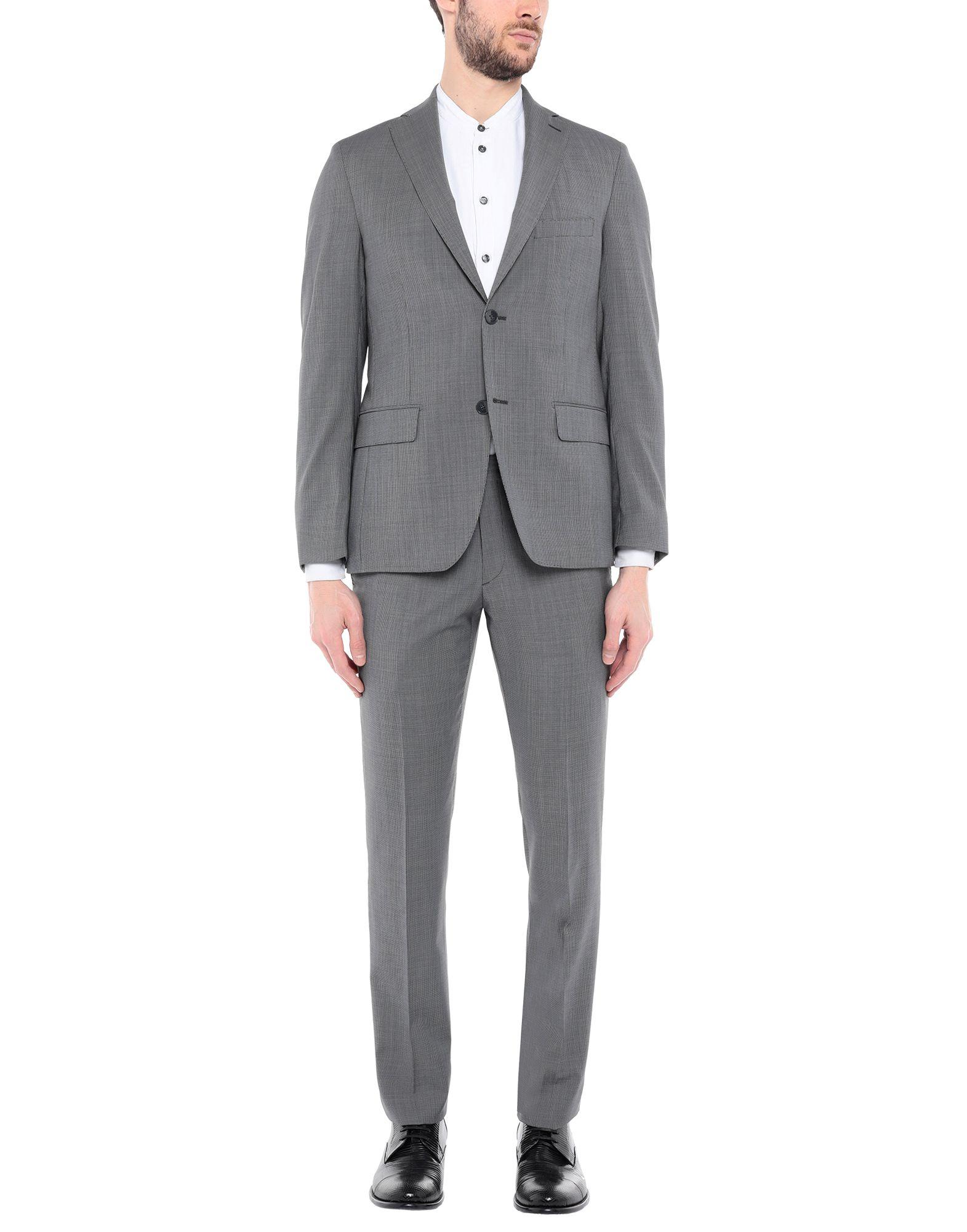 《送料無料》SARTORIA TOSCANA メンズ スーツ ブラック 48 ウール 100%