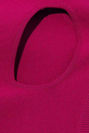 STELLA McCARTNEY Cutout stretch-knit turtleneck mini dress