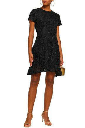 ZIMMERMANN Cutout ruffled silk-organza mini dress