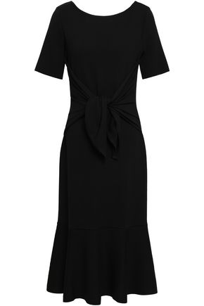OSCAR DE LA RENTA Wool stretch-ponte fluted dress