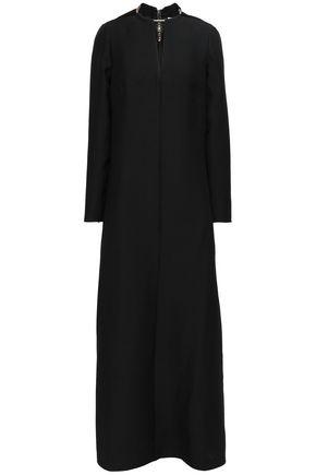 VALENTINO 装飾付き ウール&シルク混クレープ マキシワンピース