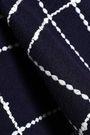 OSCAR DE LA RENTA Asymmetric checked cotton-blend jacquard peplum top