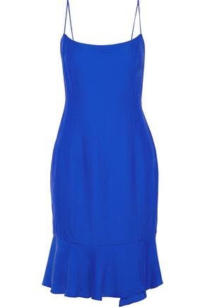 MILLY Mandy fluted crepe de chine dress