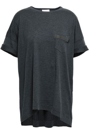 BRUNELLO CUCINELLI Bead-embellished cotton T-shirt