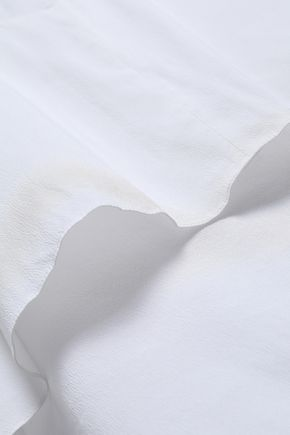 BRUNELLO CUCINELLI Layered stretch-silk crepe de chine top