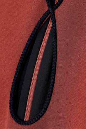ROKSANDA Ilexa cape-effect cutout crepe dress