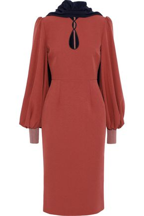 ROKSANDA Ilexa cape-effect cutout crepe dress