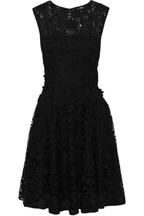 MILLY Becky floral-appliquéd guipure lace dress