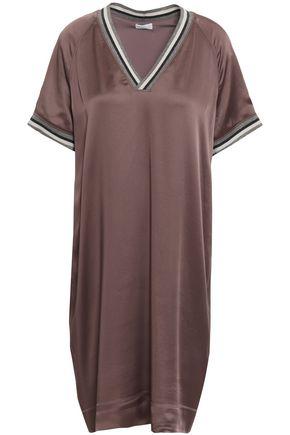 BRUNELLO CUCINELLI Striped satin mini dress