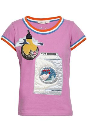 MARC JACOBS Embroidered cotton-jersey T-shirt