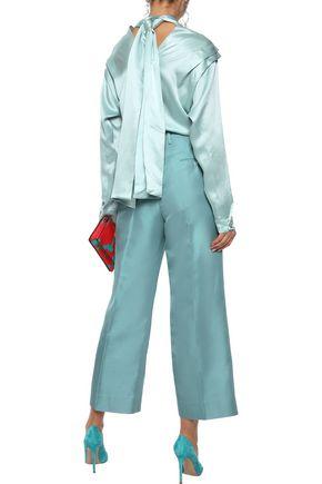 ROKSANDA Aulna tie-back hammered silk-satin blouse