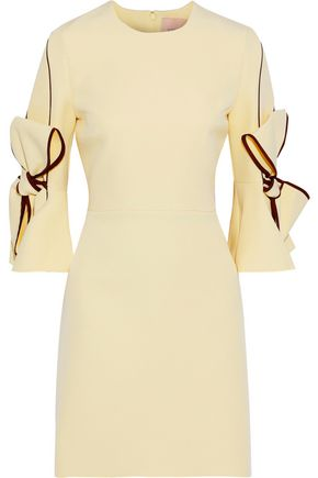 ROKSANDA Lavete bow-embellished crepe mini dress