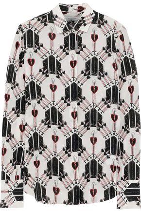 VALENTINO Printed silk crepe de chine shirt