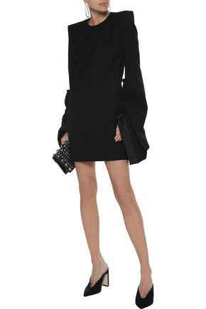 SAINT LAURENT Ruched wool-twill mini dress aa370d848fe4