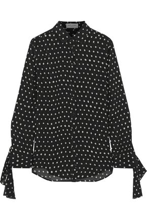 SAINT LAURENT Polka-dot crepe blouse