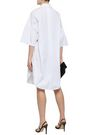 TOME Fluted belted cotton-poplin shirt dress