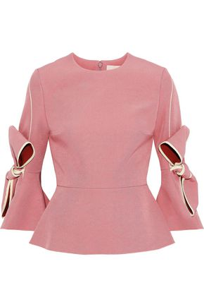 ROKSANDA Kemi bow-embellished crepe top
