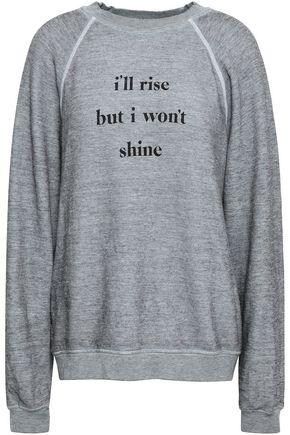 WILDFOX Mélange printed fleece sweatshirt