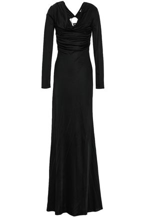 ROBERTO CAVALLI Embellished cutout jersey maxi dress 7ae748524