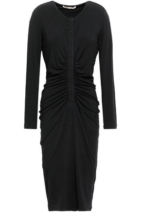 ROBERTO CAVALLI Ruched stretch-jersey dress 05b1ff473
