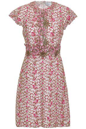 GIAMBATTISTA VALLI Cotton-blend guipure lace mini dress
