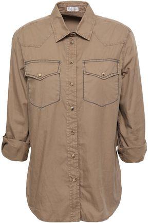 BRUNELLO CUCINELLI Bead-embellished cotton-poplin shirt
