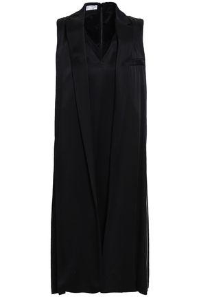 BRUNELLO CUCINELLI Striped crepe-satin dress