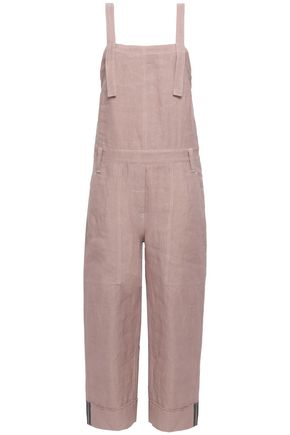 BRUNELLO CUCINELLI Linen-blend twill jumpsuit