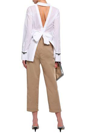 BRUNELLO CUCINELLI Cutout cotton-poplin shirt
