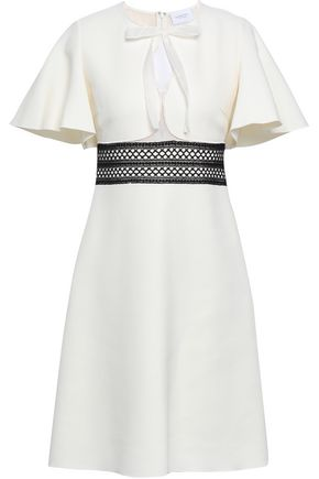 GIAMBATTISTA VALLI Crochet-trimmed cutout crepe dress
