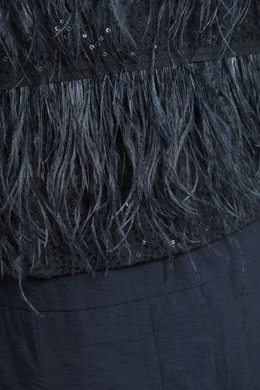 BRUNELLO CUCINELLI Layered embellished cotton-blend poplin jumpsuit