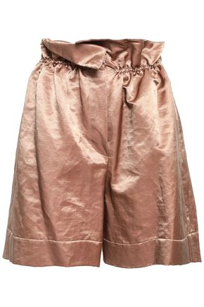 BRUNELLO CUCINELLI Gathered satin shorts