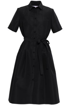 CAROLINA HERRERA Steps silk-faille shirt dress