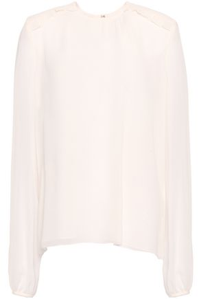 GIAMBATTISTA VALLI Ruffle-trimmed silk-chiffon blouse