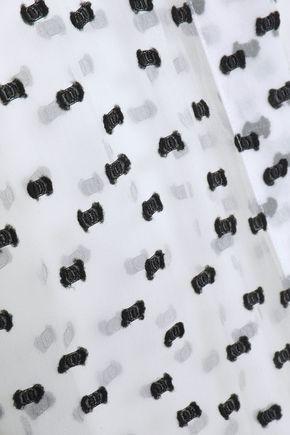GIAMBATTISTA VALLI Fil coupé silk-blend georgette shirt