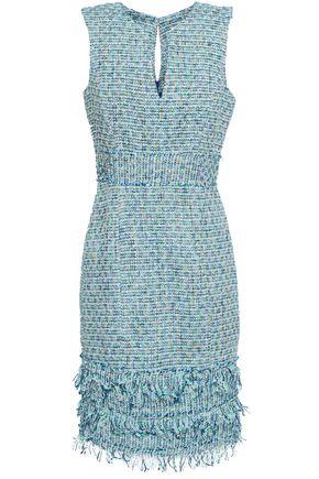 ab72a686dd7 MILLY Frayed cotton-blend tweed mini dress