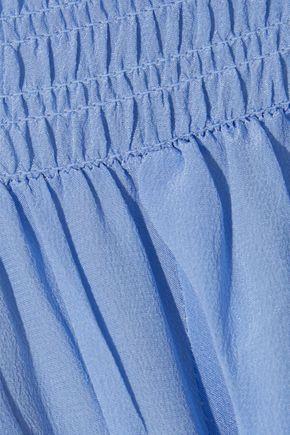 MAJE Loris off-the-shoulder silk crepe de chine top