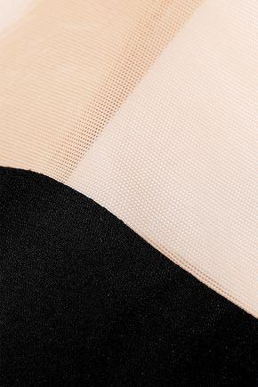 RICK OWENS Alyona cutout mesh-paneled crepe gown