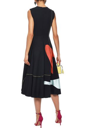 ROKSANDA Printed crepe midi dress