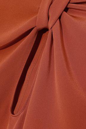 ROKSANDA Irina knotted cutout silk-satin blouse