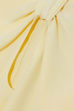 ROKSANDA Irina knotted cutout silk crepe de chine blouse