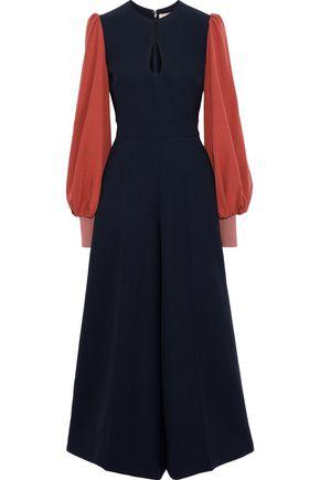 ROKSANDA | Roksanda Woman Cutout Two-tone Cady Jumpsuit Black | Goxip