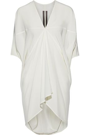 RICK OWENS LILIES Gathered silk crepe de chine tunic