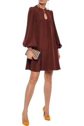 ROKSANDA Elva cutout silk-satin mini dress