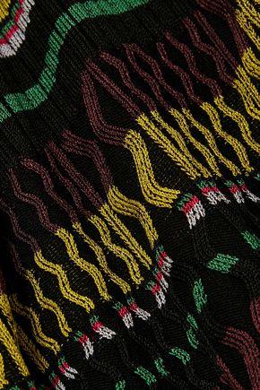 OPENING CEREMONY Striped ribbed-knit midi dress