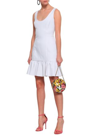 Milly Woman Geneva Neon Cady Mini Dress White