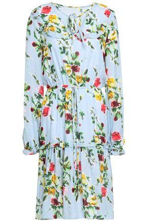 MILLY Floral-print silk-chiffon dress