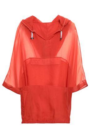 BRUNELLO CUCINELLI Silk-organza hooded top