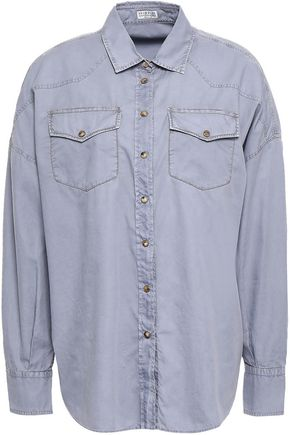 BRUNELLO CUCINELLI Oversized bead-embellished cotton shirt